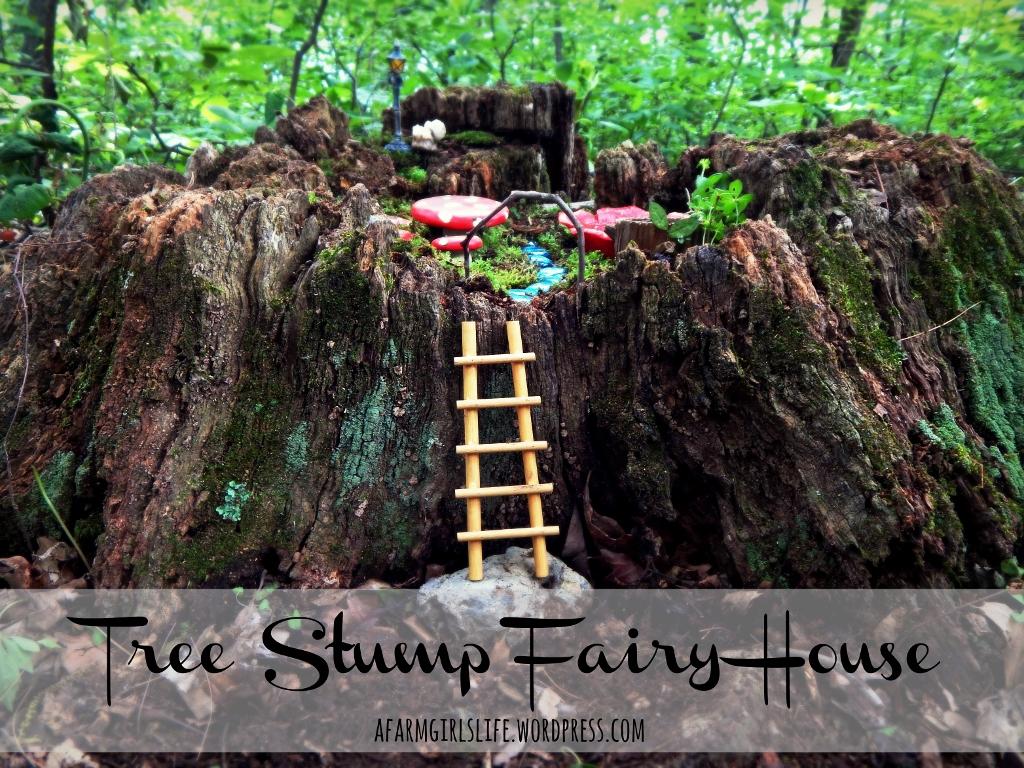 tree stump fairy house diy